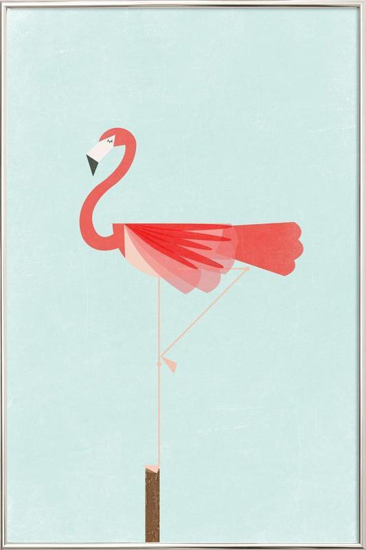 Flamingo Poster in Aluminium Frame