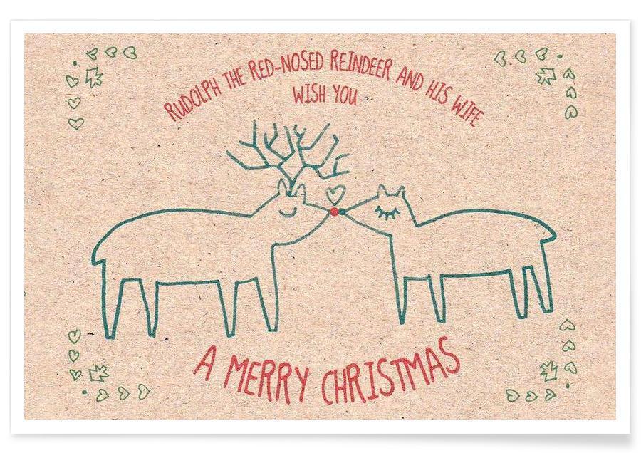 Christmas, Deer, Rudolph Poster