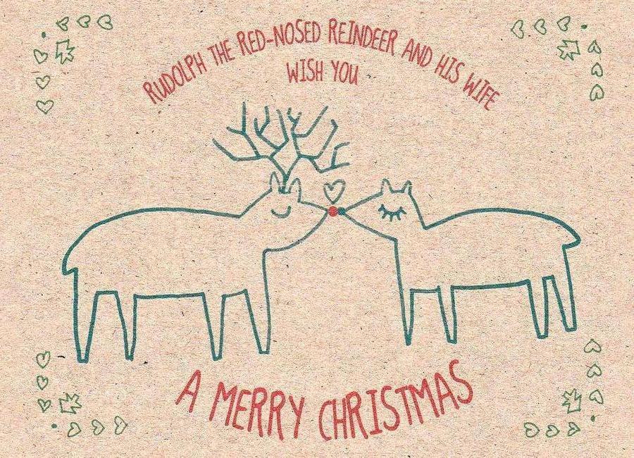 Rudolph canvas doek