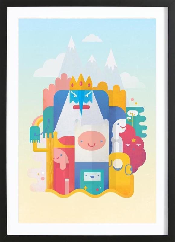 Adventure Time -Bild mit Holzrahmen