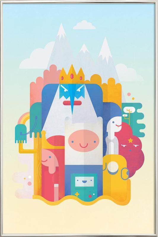 Adventure Time Poster in Aluminium Frame