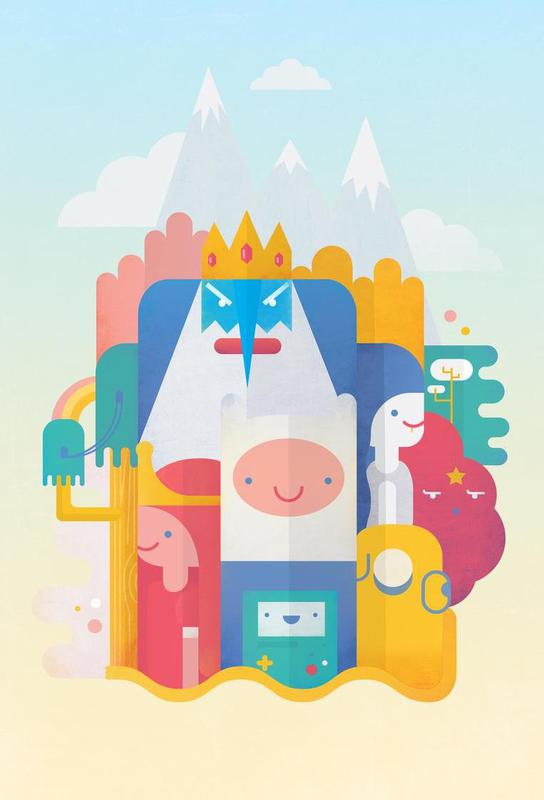 Adventure Time Acrylic Print