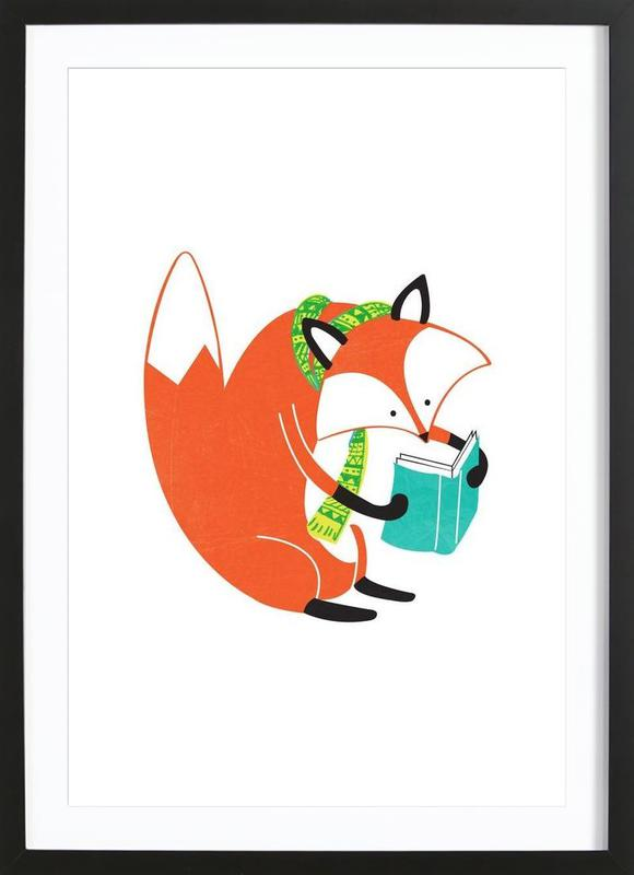 Reading Fox Framed Print