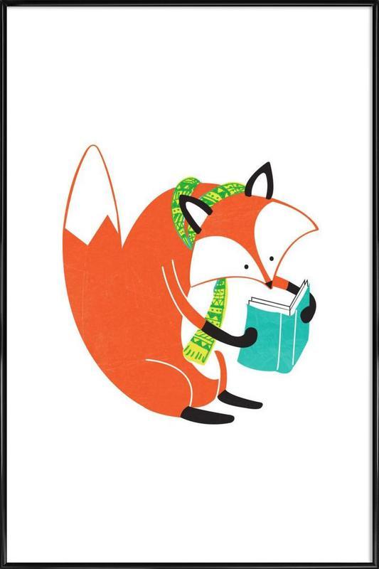 Reading Fox Framed Poster