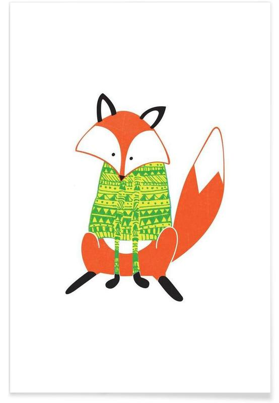 Shirt Fox Poster