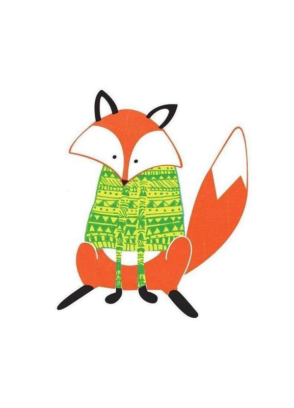 Shirt Fox -Leinwandbild