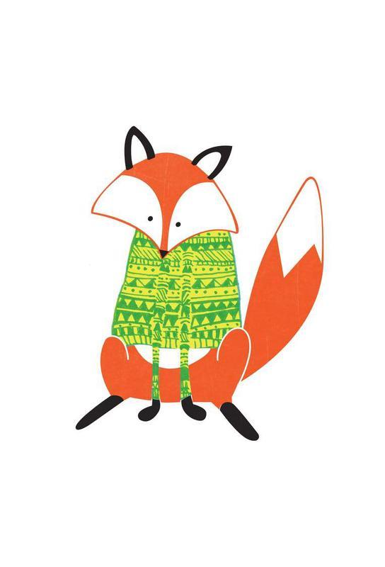 Shirt Fox Aluminium Print