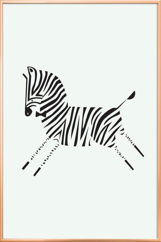 Zebra poster in aluminium lijst