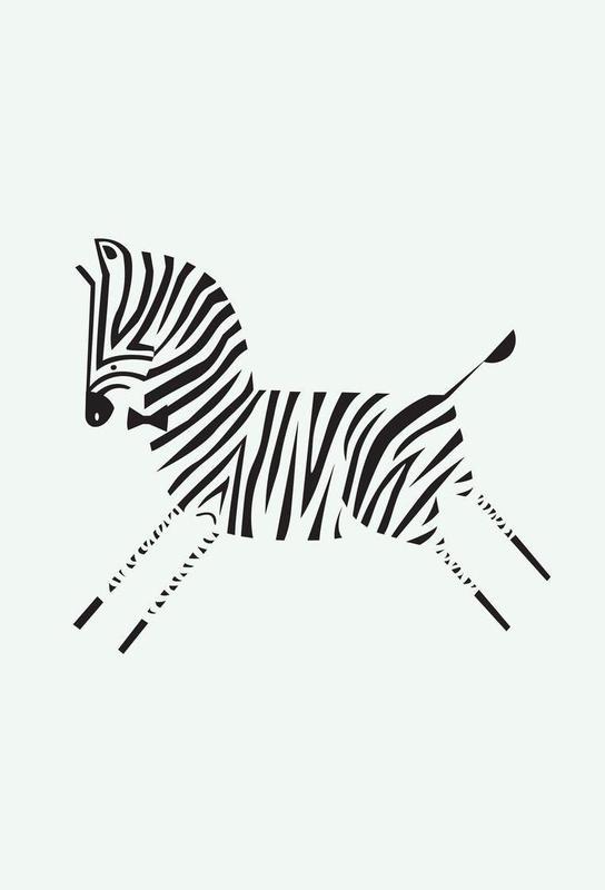 Zebra Impression sur alu-Dibond