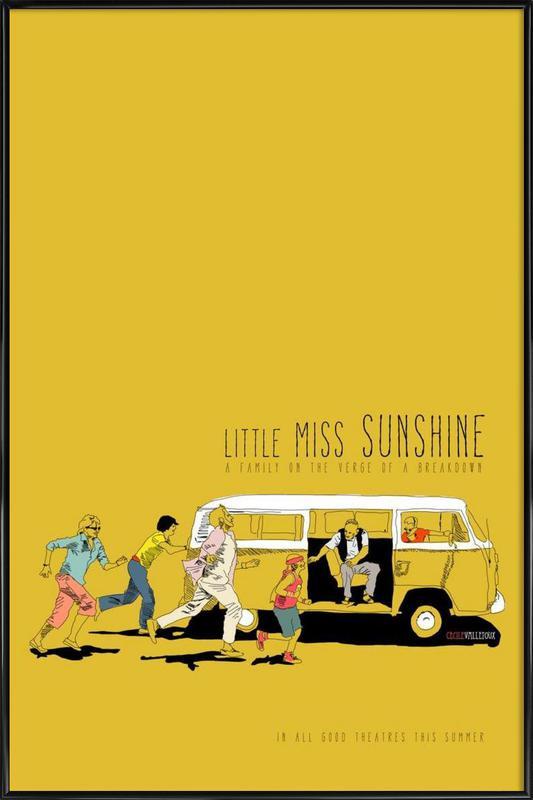 Little Miss Sunshine -Bild mit Kunststoffrahmen