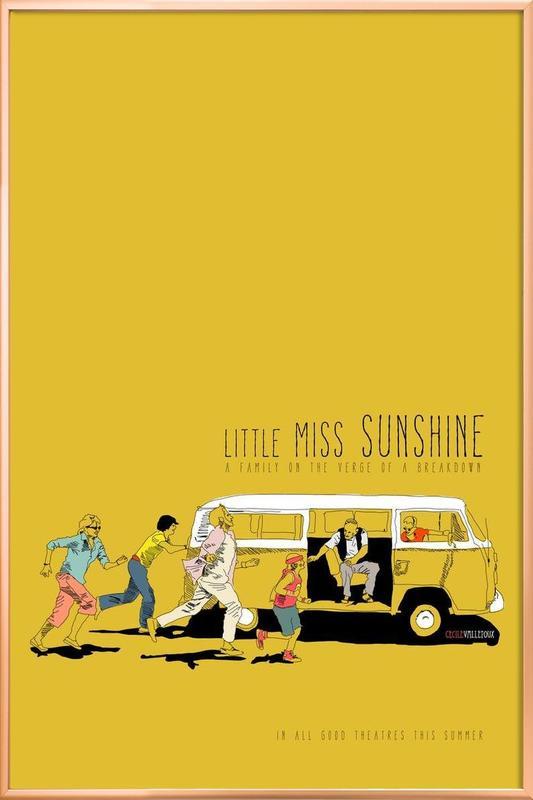 Little Miss Sunshine poster in aluminium lijst