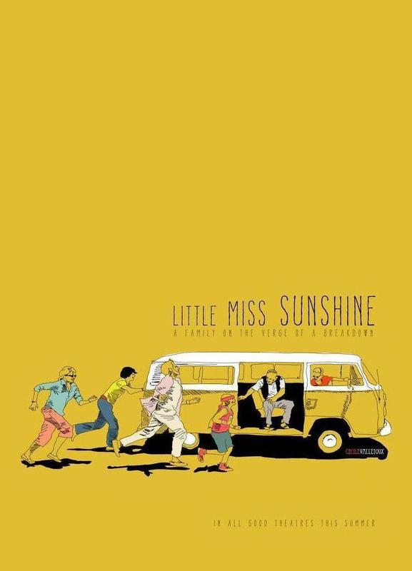 Little Miss Sunshine canvas doek
