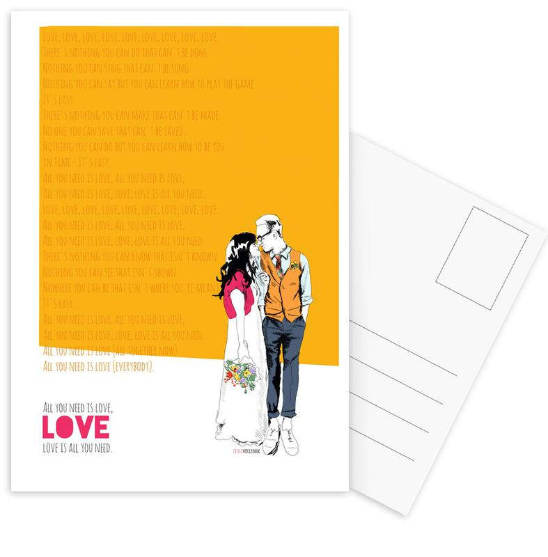 Valentijnsdag, Songteksten, Jubileums en liefde, Liefdescitaten, All You Need ansichtkaartenset