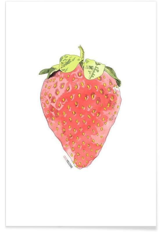 Jordbær, Fraise Plakat