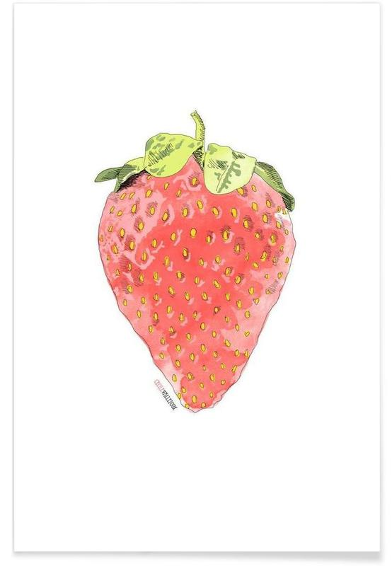 Erdbeeren, Fraise -Poster