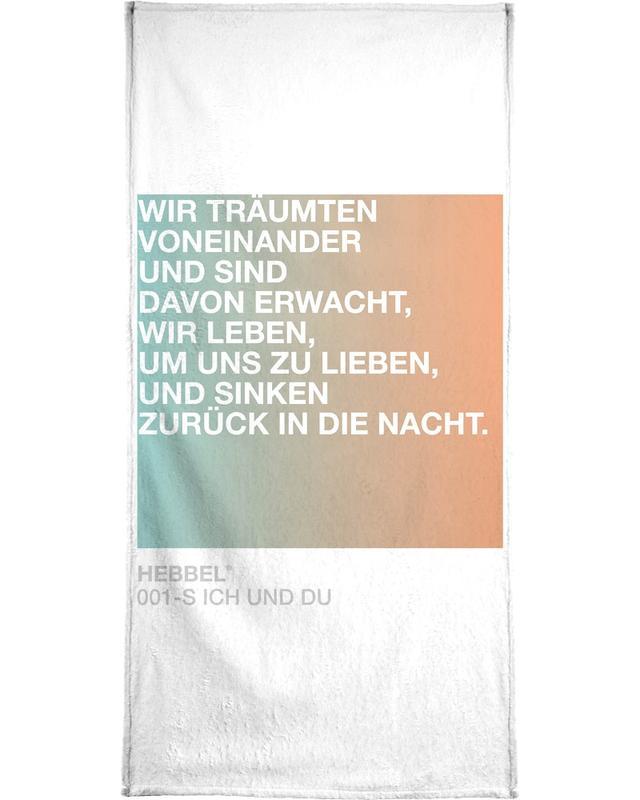 Liebeszitate, Songtexte, Ich und Du Light 01 -Handtuch