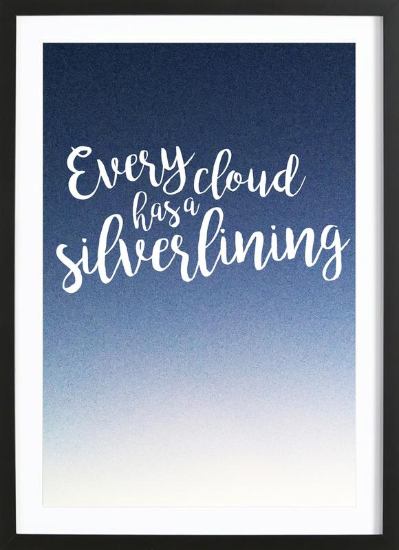 Every Cloud -Bild mit Holzrahmen