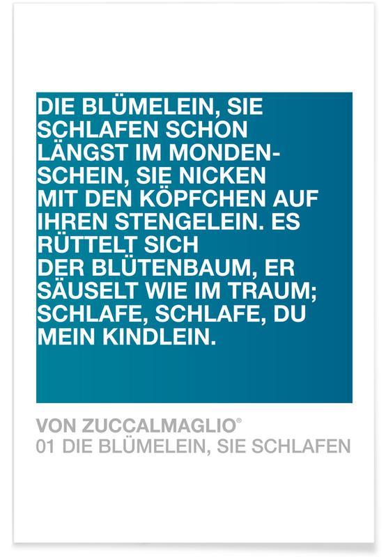 Die Blümelein Sie Schlafen 02 -Poster