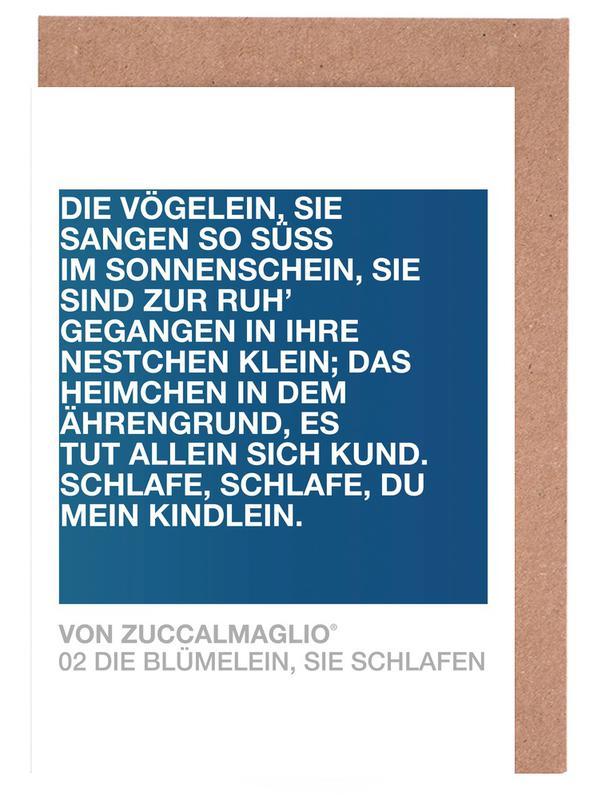Quotes & Slogans, Die Blümelein Sie Schlafen 03 Greeting Card Set