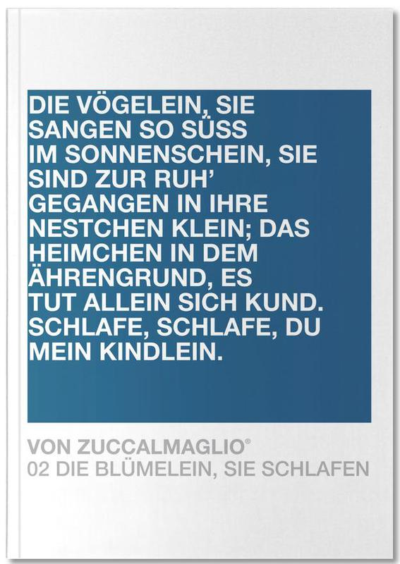 Citations et slogans, Die Blümelein Sie Schlafen 03 Notebook