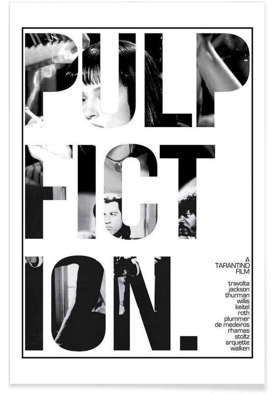 Noir & blanc, Films, Pulp Fiction affiche