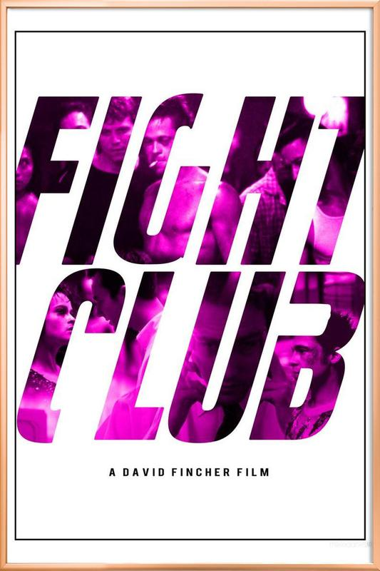 Fight Club -Poster im Alurahmen