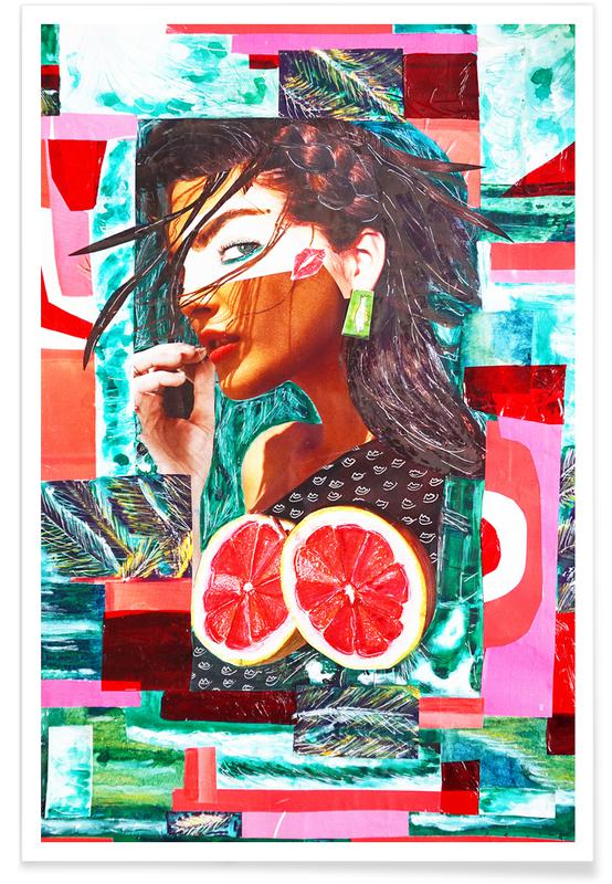 Fashion Illustrations, Kissed By The Sun Poster