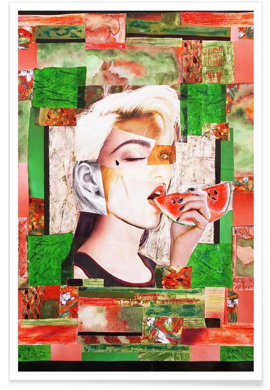 Wassermelonen, Porträts, Watermelon -Poster