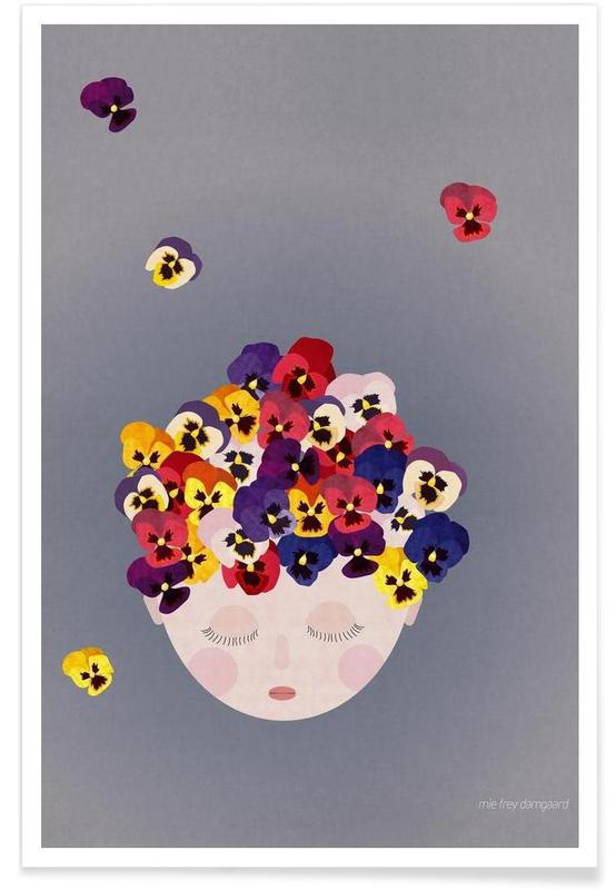 Kinderzimmer & Kunst für Kinder, Musings Pansies -Poster
