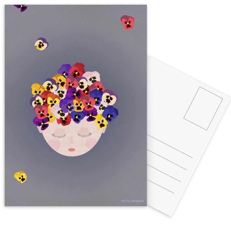 Kunst voor kinderen, Musings Pansies ansichtkaartenset