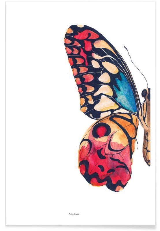 Børneværelse & kunst for børn, Sommerfugle, Bryllupper, Butterfly Left Plakat