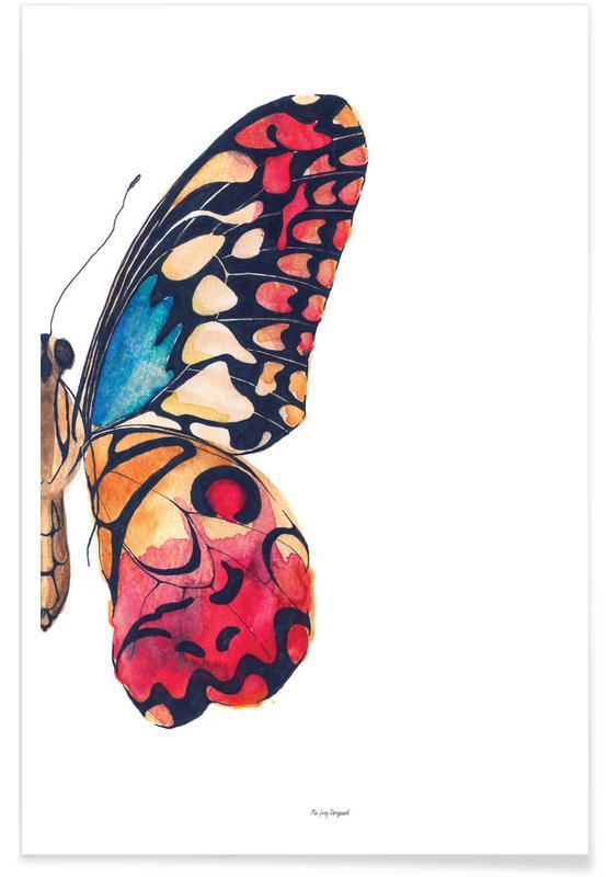 Art pour enfants, Papillons, Mariages, Butterfly Right affiche