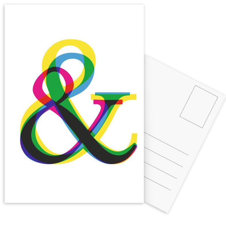 Symbols, Ampersand II Postcard Set