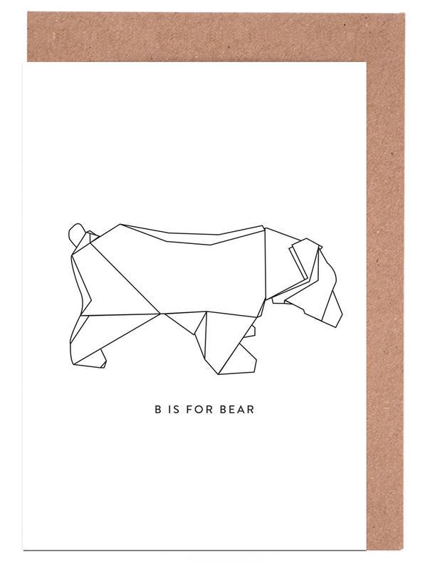 Beren, Zwart en wit, B wenskaartenset