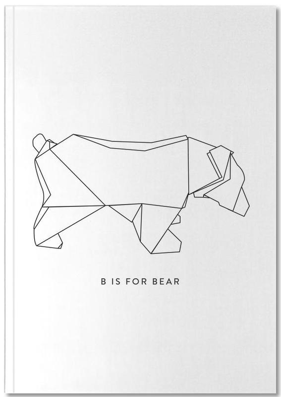 Ours, Noir & blanc, B Notebook
