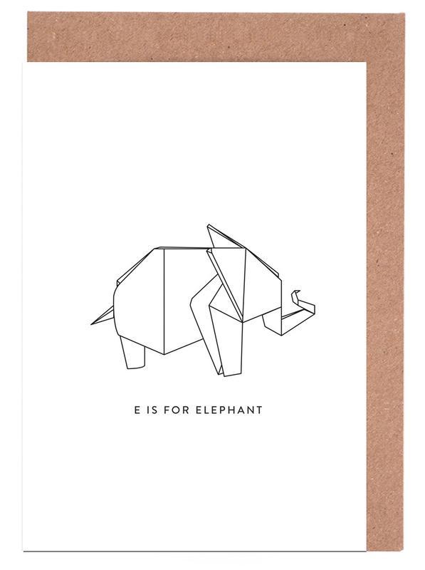 Noir & blanc, Éléphants, E cartes de vœux