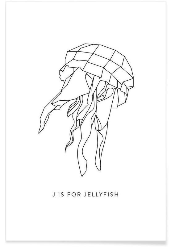 Origami Jellyfish Poster
