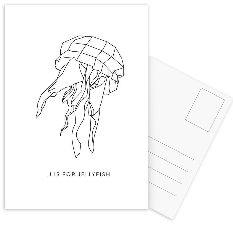 J Postcard Set