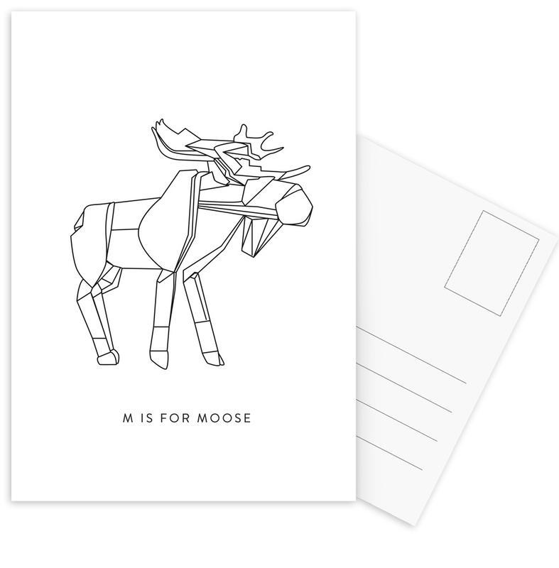 Noir & blanc, M cartes postales