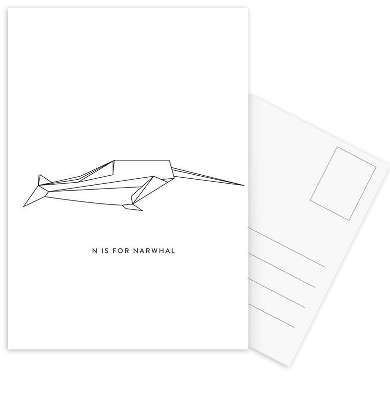Noir & blanc, N cartes postales