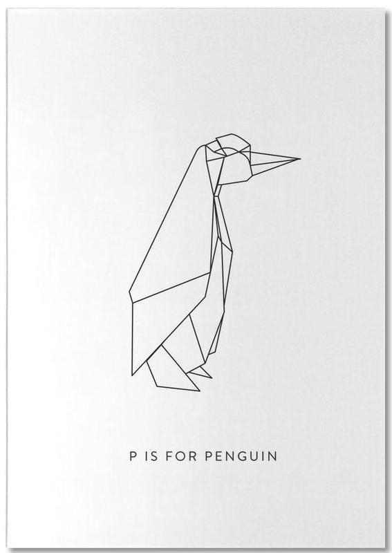 Pingouins, Noir & blanc, P bloc-notes