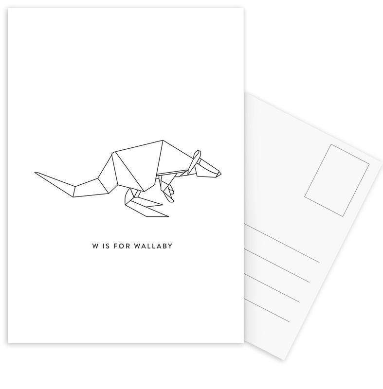 Noir & blanc, W cartes postales