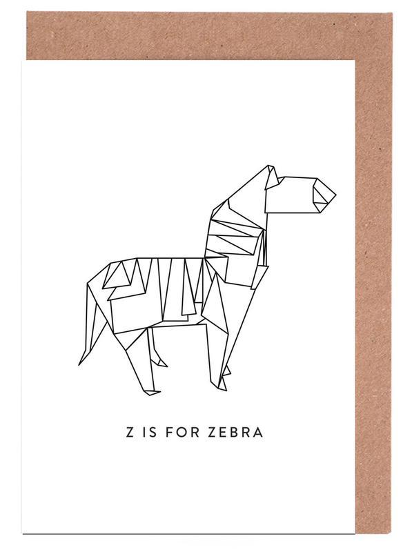 Zèbres, Noir & blanc, Z cartes de vœux
