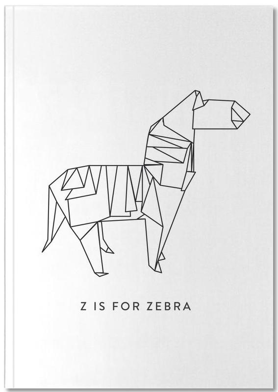 Zebra's, Zwart en wit, Z Notebook