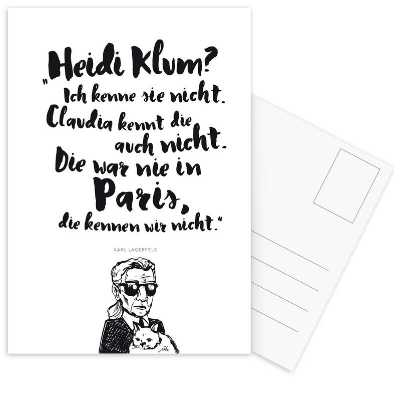 Heidi war noch nie in Paris Postcard Set