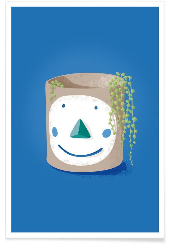 Humour, Feuilles & Plantes, Pea Face affiche