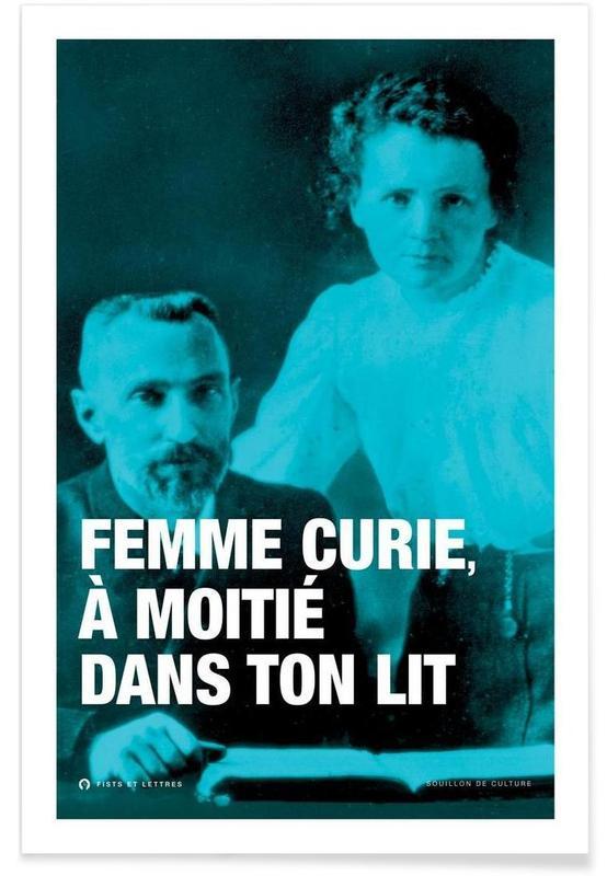 Personnages politiques, Humour, Citations et slogans, Curie affiche