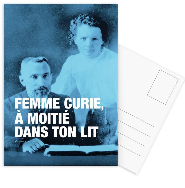Citations et slogans, Personnages politiques, Humour, Curie cartes postales