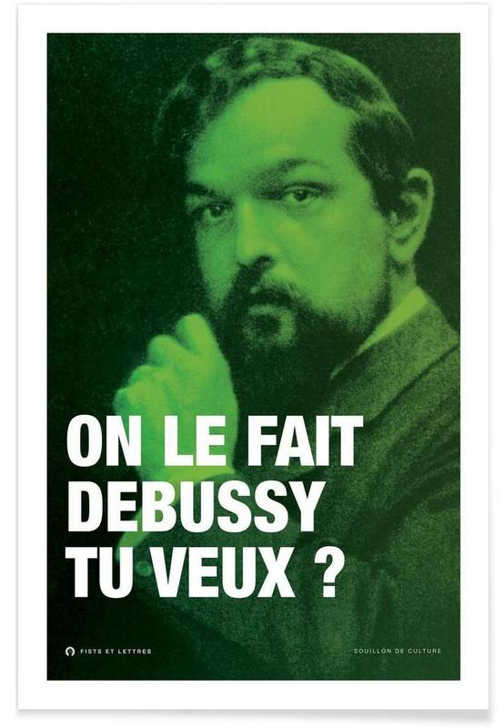 Grappig, Debussy poster