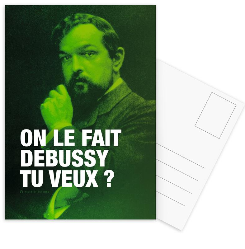 Grappig, Debussy ansichtkaartenset